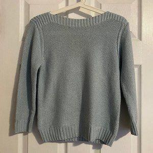 Ann Taylor Petite Blue-Grey Knit Sweater